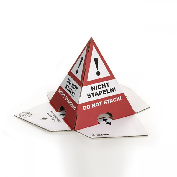 "Advarselspyramide ""Do not stack!"" ""Nicht stapeln!"""