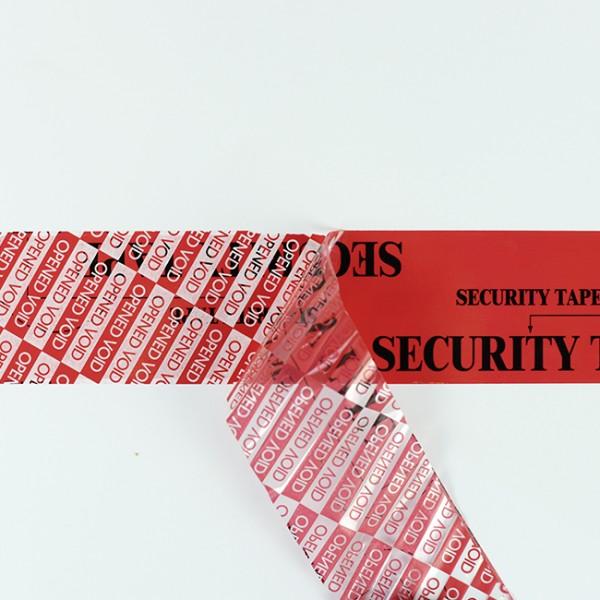 Sikkerhedstape, rød, PET, 50 mm x 50m