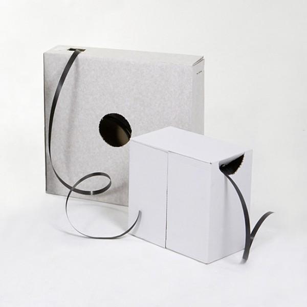 PP-Omsnøringsbånd, i dispenserkarton, 12,7 x 0,65 mm, 1000 m, sort