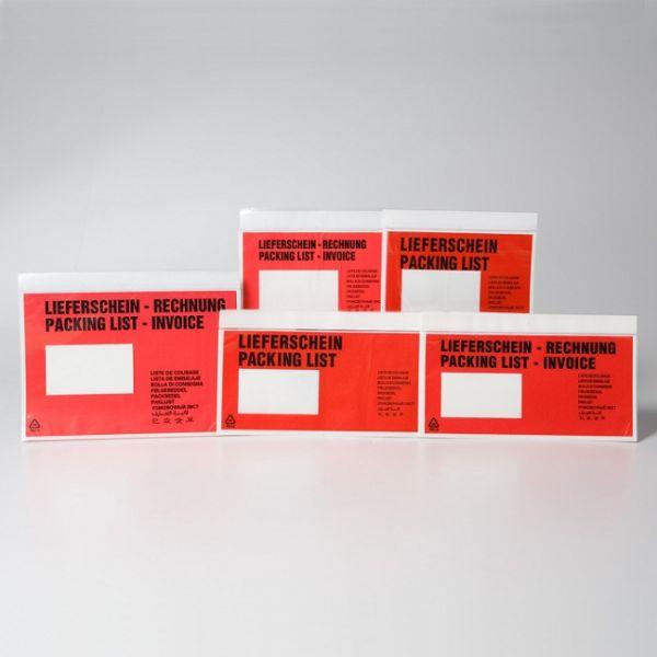 Følgeseddellommer C6, med tryk, Lieferschein / Rechnung