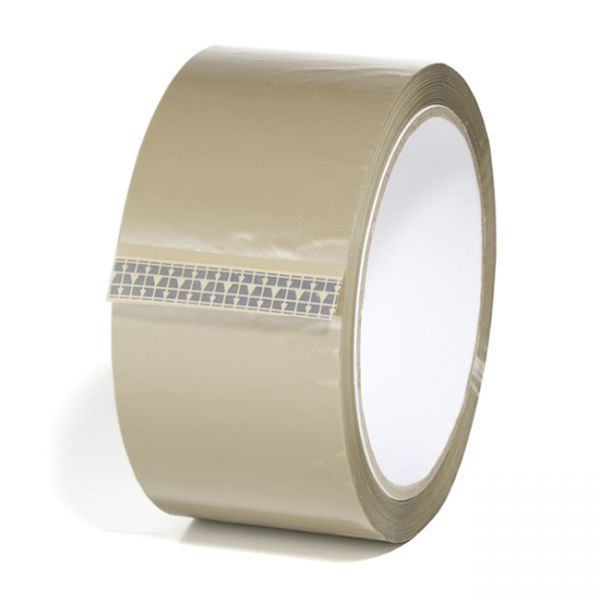 Pakketape, brun, low noice, 48 mm x 66 m