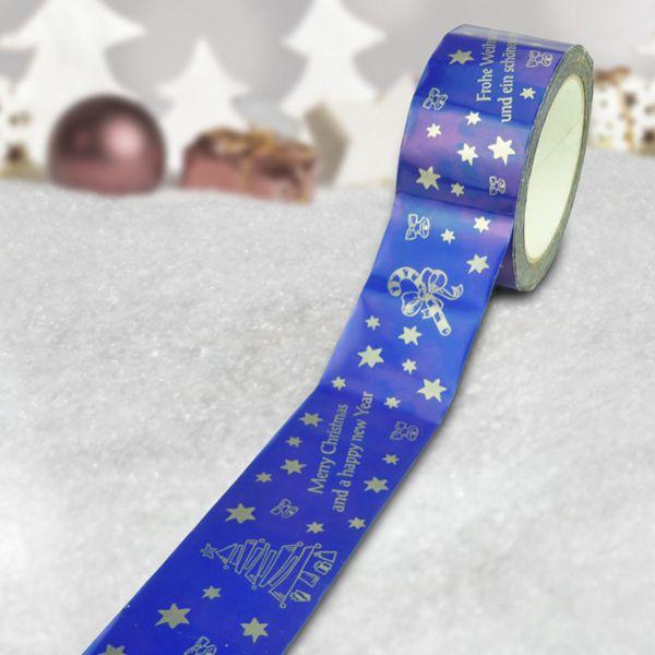 Julebånd, mørkeblå, 50 mm x 66 m