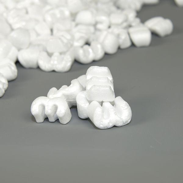 """Chips """"E-Form"""" hvid, 500 l sæk"""