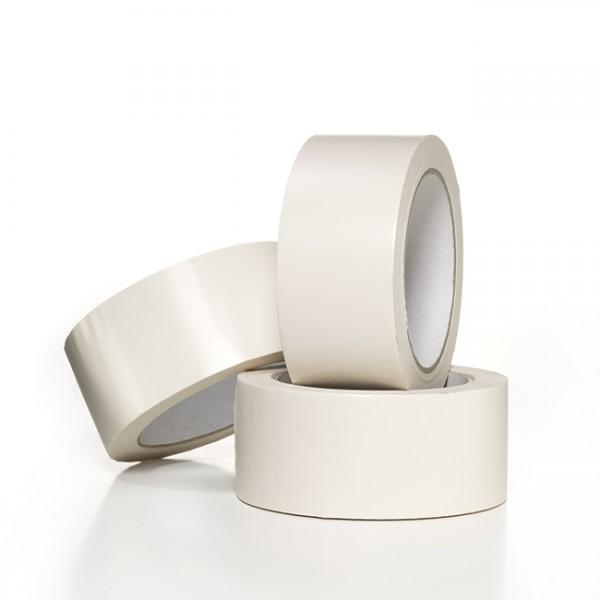 PVC-pakketape, hvid, 50 mm x 66 m