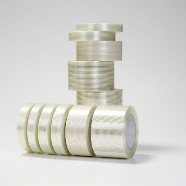 Filamenttape, 50 mm x 50 m, forstærkning på langs og tværs