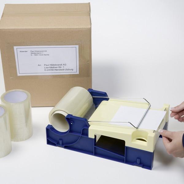 Beskyttelsestape til etiketter, acryl-lim, 150 mm x 66 m